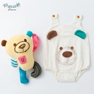 方格(熊臉無袖包屁衣1)