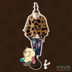 動物紋罩衫 (100-110)-2